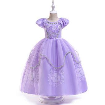 Vestido Princesa Sofia Infantil Niña Vestido Princesa Pequeña