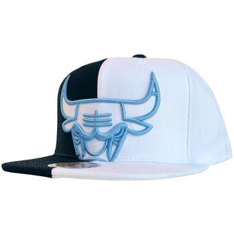 7303aa60d6fcd Agotado Mitchell And Ness - Gorra Para Hombre NBA Chicago Bulls - Blanco  negro