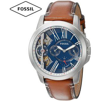 71b132a1ca10 Reloj Fossil Grant Twist ME1161 Doble Mecanismo Correa Cuero - Marrón Azul