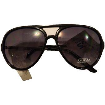fa421446c5 Compra Gafas Lentes De Sol Mujer Guess Gf0200 Tipo Aviador En Negro ...