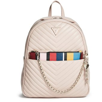el más nuevo 2fa91 93d36 Mochila Guess Mujer - Luciana Logo Backpack - Palo rosa