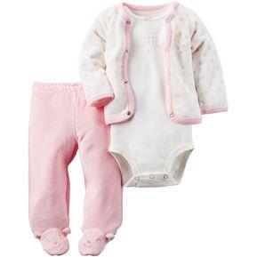 6fd054f9edd Conjunto 3 Piezas Carter s Para Bebé Niña - Rosado