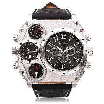 bcddf3b96d4f Relojes Caballero Doble Cuarzo Movimientos Para Hombre Oulm 1349 (Negro)