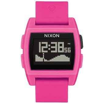 Reloj Nixon Base Tide Punk Pink Resina
