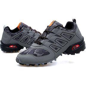 eb1c0bcf08f Zapatillas Deportivas Deporte Hombres Zapatos Antideslizantes-Gris