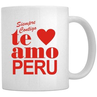 Compra Taza Idakoos Te Amo Peru - Blanco online  1ce9a64b725