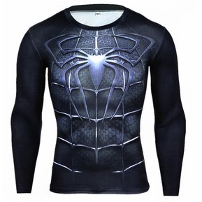 Camiseta Spiderman Negro Manga Larga Slim Fit f6b67ff40781d