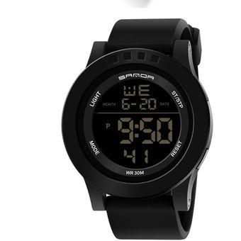 e4056f0ce129 Compra Reloj Digital LED Para Hombre De Deportes De Moda-negro ...