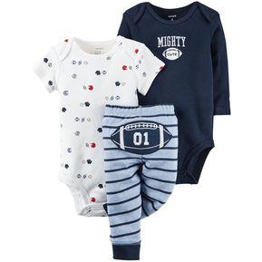 Set Conjunto Carter s 3 Piezas De Algodón Para Bebé Niño - Azul 78c78fa6927