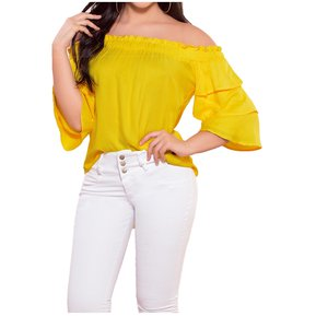 08319d4333 Blusa Adulto Femenino Marketing Personal 82015 Amarillo