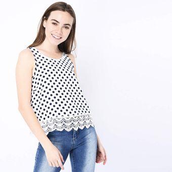 d568a4bf10 Compra Blusa Manga Corta Sybilla para Mujer-Blanco online