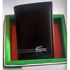 Billetera 03 Cuerpos Lacoste Para Caballeros 100% Cuero En Caja 6a2b5642aa