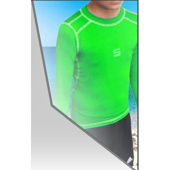 Compra Playera Acuatica - Manga Larga - Niño Mod3 Color Verde Neon ... 884fafd760e27
