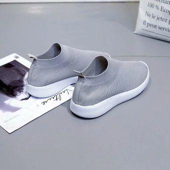 4d551f8f4d Compra Zapatos planos casuales de malla para mujer-Blanco online ...