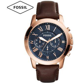 f92b9e9708cf Compra Reloj Fossil Grant FS5068 Cronometro Correa De Cuero - Marrón ...