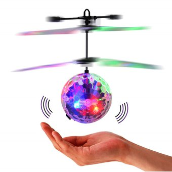 Bola Luminosa Rgb Voladora Recargable Usb Drone Juguete