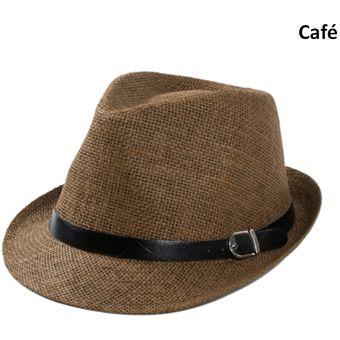 Compra Sombrero Fedora Tipo Gardel Playa Sol Talla Única Cafe online ... 08cb81b023c