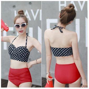 8b710ddaa444 EH Traje De Baño Bikini De Talle Alto Vintage Retro