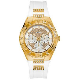 Compra Reloj Guess - W0653L3 Blanco Dorado online  41c808fa38ac