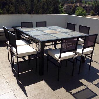 Compra Comedor terraza 8 personas cuadrado online | Linio Chile