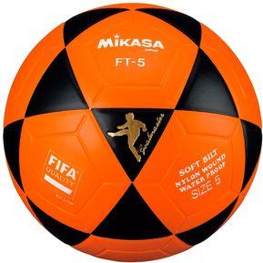 60c6dfec57083 Pelota de Fútbol Profesional Mikasa FT-5 - Naranja Negro