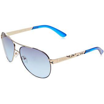 Compra Guess - Lentes De Sol Aviador Unisex - Azul online  f78182221cec