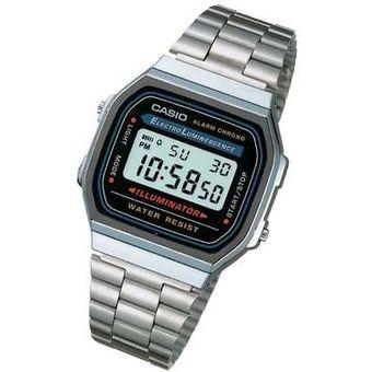 300811ddfebc Compra Reloj Casio Para Dama A168WA Digital Plateado online