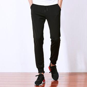 muy elogiado zapatos genuinos comprar más nuevo Moda Verano Jogger Baggy Harem Pants Hombre Slim Fit (Negro)