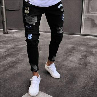 Pantalones Cortos De Mezclilla De Moda Para Hombres Negro Linio Mexico Oe599fa1iji23lmx