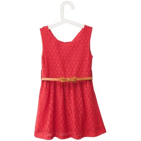 29dd650aa6 Princesa sin mangas princesa Dress de las muchachas (rojo)