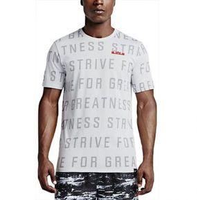 Camiseta Nike Lebron Chalk Tee 742728-100 Blanca Para Hombre 8dcb375adbf