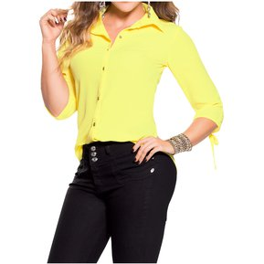 1a2afa500 Blusa Adulto Marketing Personal Para Mujer Amarillo