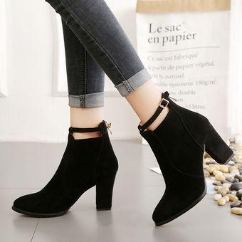 Compra Zapatos Mujer Tacones De La Cremallera De Tacones Altos Botas ... 3abb88fe8d3f