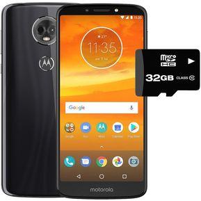 a83404e78f8 Celular Motorola Moto E5 Plus 32+3GB Dual Sim + Micro SD 32gb Negro