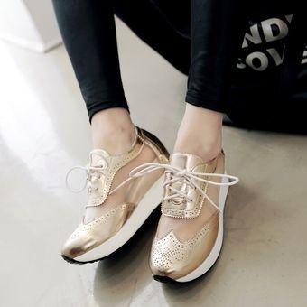35e643bf9cf7e Mujer zapatos Sandalias de plataforma estilo deportivo y comodo de color  dorado