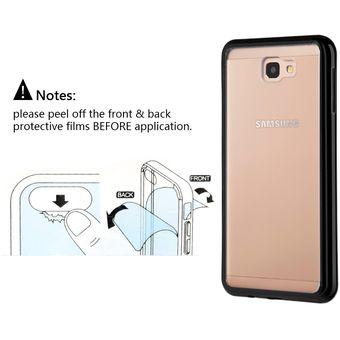 2ba4c244f Funda Case Para Samsung J7 Prime Protector Transparente De Acrílico Con  Bordes De Plastico TPU -