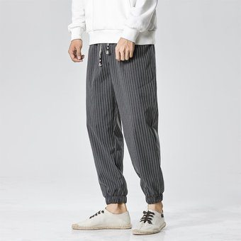 Sinicism Store Otono Moda Rayas Casual Harem Pantalones Hombres Oversize Estilo Japones Pantalones Sueltos Hombre Algodon 5xl Pantalon Gray Asiansize Linio Peru Un055fa0gahzdlpe