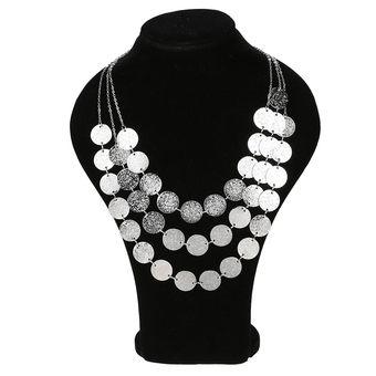 9a47c5309647 Modaling Collar De Cadena Múltiples Capas Elegante Fiesta Para Mujer -  Plateado