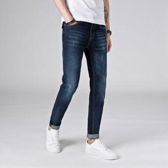 Pantalones De Mezclilla Ligao Hombres Azules Jeans Delgado Pantalones Largos De Cuerpo Entero Casual Jeans Linio Peru Ge582fa0u78wjlpe
