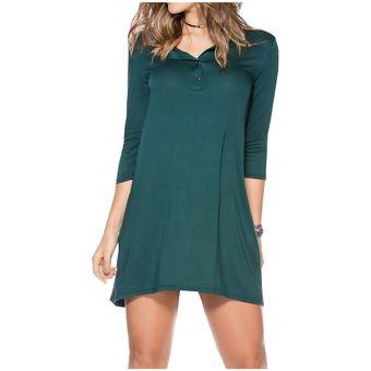 Vestido mujer verde botella