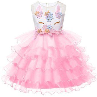 Unicornio Vestido Para Niñas Vestidos De Princesa Rosa
