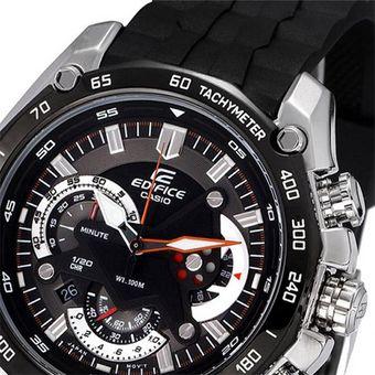 914c43ca7b62 Compra Reloj Casio Edifice EF-550-1A-Negro con Plateado online ...