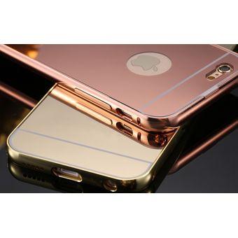 398e353a2ea Case Funda Bumper Aluminio Tipo Espejo Metálico Protector Para IPhone 5 / 5s  / 5se