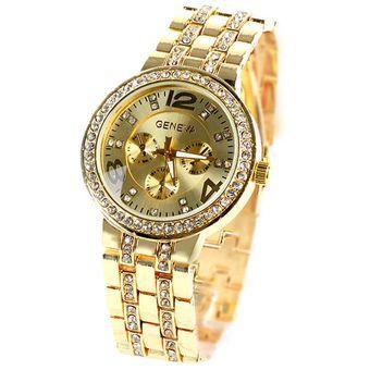 cc64a154b1c3 Bling Cristal Muchacha De Las Mujeres Unisex De Acero Inoxidable De Cuarzo  Reloj De Pulsera De