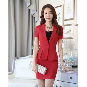 Trajes Para Mujer Faldas Y Sacos Formales De Oficina Y Negocio - Rojo befccb12aa80