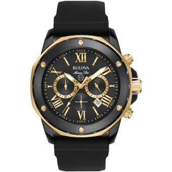 f226e9c75145 Agotado Reloj Bulova Marine Star 98B278 Cronógrafo Hombre - Negro y Dorado