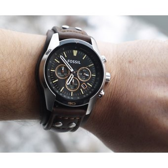 66bbd3a9f784 Compra Reloj Fossil Coachman CH2891 Cuero Analógico Hombre - Marrón ...