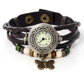 varios diseños compra genuina amplia selección de colores Reloj Pulsera Vintage Mariposa - Café