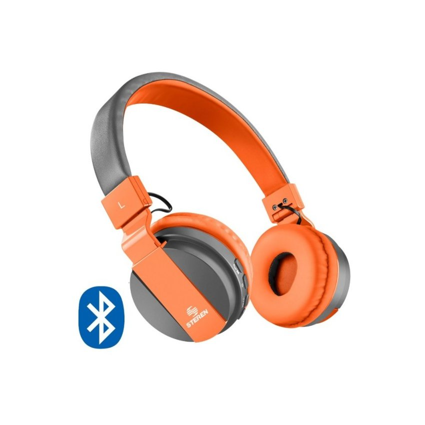 Audífonos Bluetooth Compactos Naranja Diadema Acojinados Steren