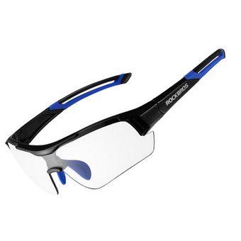 b9eba0b2fe ROCKBROS UV400 Gafas Fotocromáticas Bicicleta Ciclismo Gafas Miopía - Azul